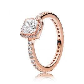 Pandora 180947CZ Ladies Ring Timeless Elegance Rose