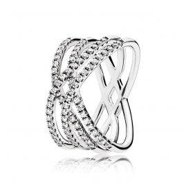 Pandora 196401CZ Ladies Ring Cosmic Lines
