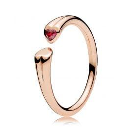 Pandora 186570CZR Ring für Damen Zwei Herzen Rosé