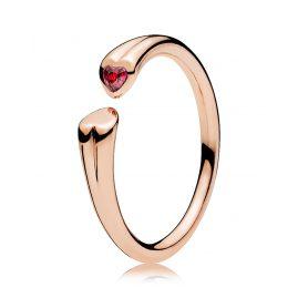 Pandora 186570CZR Ladies Ring Two Hearts Rose