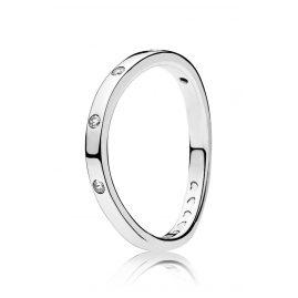 Pandora 197113CZ Damen-Ring Verwirbelte Tröpchen