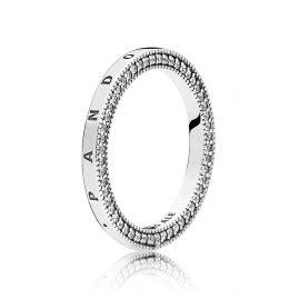 Pandora 197437CZ Damen-Ring Herzen