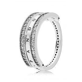Pandora 197404CZ Ladies' Ring Flipping Hearts