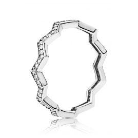 Pandora 197751CZ Ladies' Ring Shimmering Zigzag