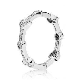 Pandora 197729CZ Ladies' Ring Alluring Hearts