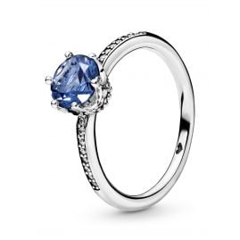 Pandora 198289NSWB Damen-Ring Blue Sparkling Crown