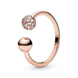 Pandora 188316CZ Rose Ring für Damen Polished & Pavé Bead