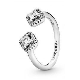 Pandora 198506C01 Women's Ring Square Sparkle Open Ring