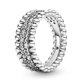 Pandora 198676C01 Women's Ring Beaded Pavé Band