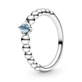 Pandora 198598C01 Silber Damenring Aqua Blue Beaded