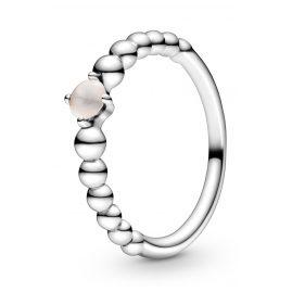 Pandora 198598C06 Ladies' Ring Misty Rose Beaded