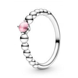 Pandora 198598C09 Ladies' Ring Petal Pink Beaded