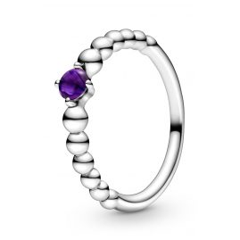 Pandora 198867C03 Silber Damen-Ring Purple Beaded