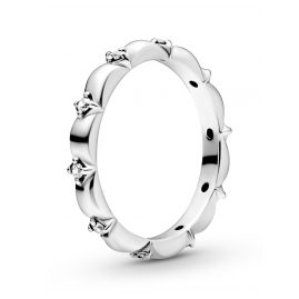 Pandora 198791C01 Silver Ladies' Band Ring Flower Petals