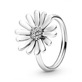Pandora 198817C01 Silver Statement Ring for Ladies Pavé Daisy Flower