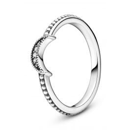 Pandora 199156C01 Silver Ladies' Ring Sparkling Crescent Moon