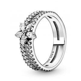 Pandora 199236C01 Ladies' Ring Sparkling Snowflake Silver
