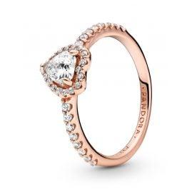 Pandora 188421C02 Rose Damen-Ring Funkelndes Herz Weiß