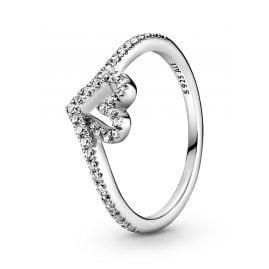 Pandora 199302C01 Silber Damenring Sparkling Wishbone Heart