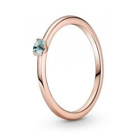 Pandora 189259C02 Ladies' Ring Light Blue Solitaire