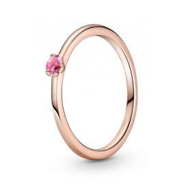 Pandora 189259C03 Rose Damen-Ring Pinkfarbener Solitaire