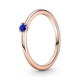 Pandora 189259C04 Rose Damenring Blauer Solitaire