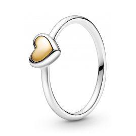 Pandora 199396C00 Ring für Damen Gewölbtes Goldherz