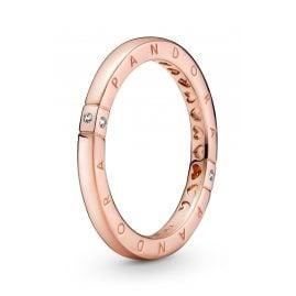 Pandora 189482C01 Ladies' Ring Logo & Hearts