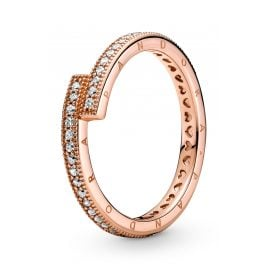 Pandora 189491C01 Ladies' Ring Sparkling Overlapping Ring