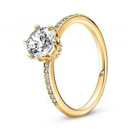 Pandora 168289C01 Women's Ring Sparkling Crown Gold Tone
