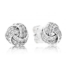 Pandora 290696CZ Earrings Sparkling Love Knot