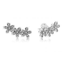 Pandora 290744CZ Ladies Stud Earrings Glamorous Daisies