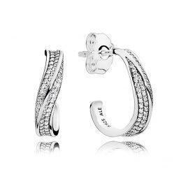 Pandora 297097CZ Damen-Ohrringe Elegante Wellen