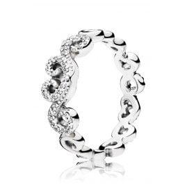 Pandora 197117CZ Ladies Ring Heart Swirls