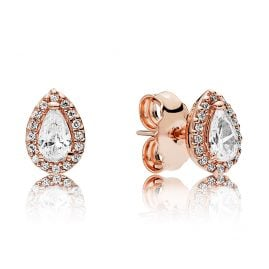 Pandora 286252CZ Rose Ladies' Earrings Radiant Teardrops