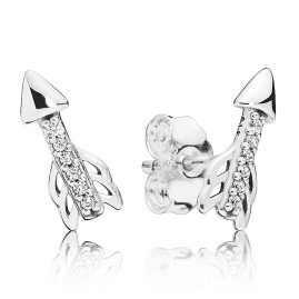 Pandora 297828CZ Earrings Sparkling Arrows