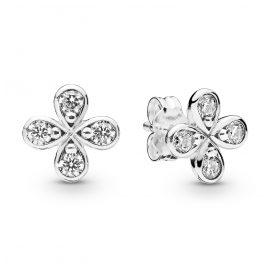 Pandora 297968CZ Ohrstecker für Damen Four-Petal Flowers