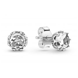 Pandora 298311CZ Damen-Ohrstecker Clear Sparkling Crown
