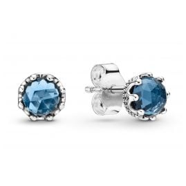 Pandora 298311NMB Damen-Ohrstecker Blue Sparkling Crown