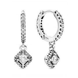 Pandora 298503C01 Earrings Square Sparkle