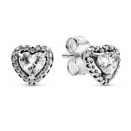Pandora 298427C01 Ladies' Stud Earrings Elevated Hearts