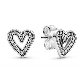 Pandora 298685C01 Ladies' Earrings Sparkling Freehand Hearts