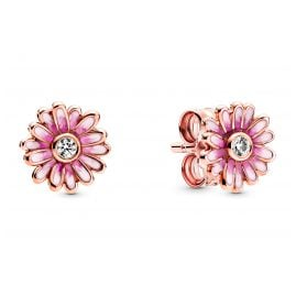 Pandora 288773C01 Rose Ladies' Stud Earrings Pink Daisy Flower