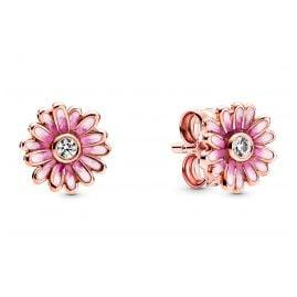 Pandora 288773C01 Rose Damen-Ohrstecker Pinke Gänseblümchen Ohrringe