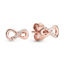 Pandora 288820C01 Rose Damen-Ohrringe Ohrstecker Funkelnde Unendlichkeit