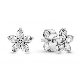 Pandora 299239C01 Women's Stud Earrings Sparkling Snowflakes