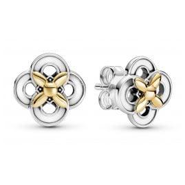 Pandora 299349C00 Damen-Ohrstecker Silber Zweifarbige Blume