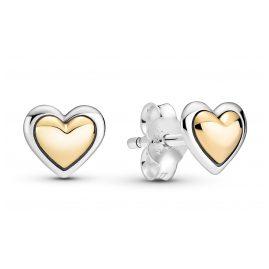 Pandora 299389C00 Damen-Ohrringe Ohrstecker Gewölbtes Goldherz