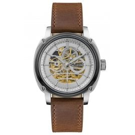 Ingersoll I09902 Herren-Automatikuhr The Director Skelett Braun 46 mm