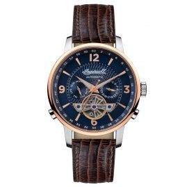Ingersoll I00703B Herrenuhr Automatik The Grafton Multifunktion Braun/Blau